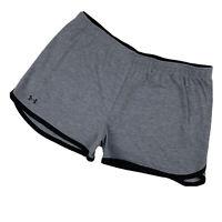 UNDER ARMOUR Women Medium Jersey Running Gym Shorts Activewear Athletic Gray