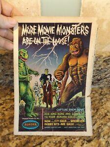 Aurora Monster Model Original 1960's King Kong / Godzilla magazine Ad