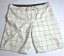 Old Navy Board Shorts Swim Trunks Mens Size XL Beige Brown Check