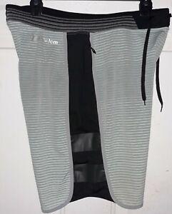 Hurley Phantom Striped Board Swim Shorts Mens 33 8.5 Black Blue