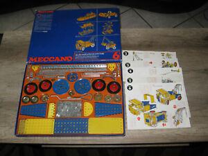 jouet jeu ancien de construction en métal MECCANO Boite bleue n° 6 avec notices