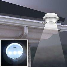 Solar Power Powered Outdoor Garden Light Gutter Fence LED Wall with Bracket New