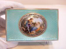 Antique Silver, Guilloche Enamel Singing Bird Box Automaton Music Box (Video)