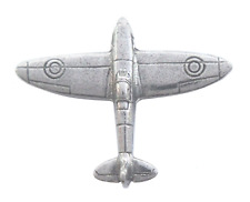 RAF Supermarine Spitfire Pin Badge Hand Made in Polished English Pewter