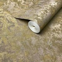 Wallpaper bronze Brass gold metallic foil Textured Plain Modern faux sackcloth