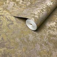 Wallpaper bronze Brass gold metallic foil Textured Plain Modern faux sackcloth