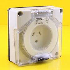 Clipsal 56SO310LLE Socket Outlet 250V 10A Round Earth Lighting - LESS BASE