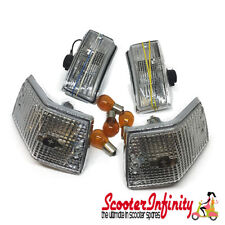 Indicator Kit STELLA (Front Rear, incl. bulbs) Vespa PX80-200/PE /Lusso/T5