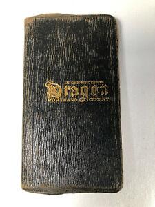 Antique Dragon Lawrence Portland Cement 1913 Calendar Note Book Philadelphia