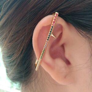 1 PC Fashion Rockcubic zirconia star Clip Ear Cuff Wrap Earring Women Jewelry