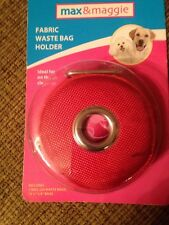 Max And Maggie Red Fabric Pet Waste Bag Holder with Roll of Bags