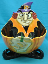 Witch Candy Bowl Dish Container Halloween Decoration Chip Bowl Large 2.3 Quarts