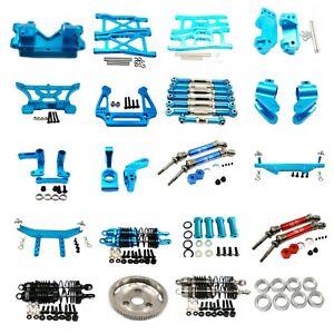 Aluminum Metal CNC Upgrade Parts DIY Fit for 1/10  traxxas slash 2wd Rc Car Blue
