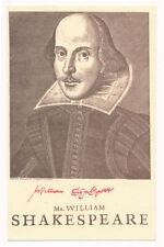 William Shakespeare - Postcard