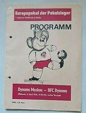 Orig. Programm EC 1972 BFC Dynamo Berlin Динамо Москва DDR програма Кубок Moskau