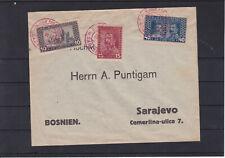 Gedenkausgabe Sarajewo mit ROTEM Stempel auf Brief 121 - 123