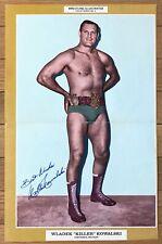 KILLER KOWALSKI - Wrestling Illustrated Pin-Up Poster - AUTOGRAPHED!
