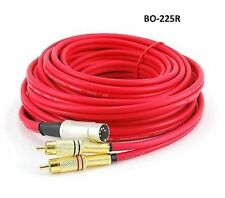 25ft BO, Naim, Quad 5-Pin DIN to 2-RCA Red Audio Cable, CablesOnline BO-225R