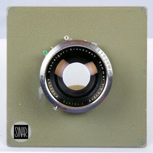 Schneider Symmar 210mm f5.6 - 370mm f12  lens, Synchro-Compur, Sinar board