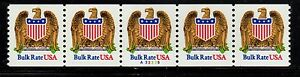 #2602 Eagle & Shield PNC5  Pl #A33335 - MNH