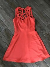 Guess Womens Bright Peach Strappy Sweetheart Dress Size 2
