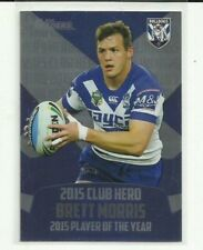 2016 NRL TRADERS CLUB HERO CANTERBURY BULLDOGS BRETT MORRIS CH5 CARD