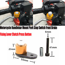 Universal Motorcycle Handlebar Park Stop Switch Front Brake Lever Clutch Button