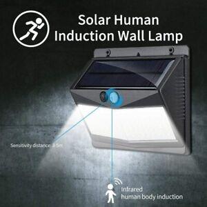 NEU 108LED Solarleuchte mit Bewegungsmelder Solarstrahler Außen Gartenlampe IP65