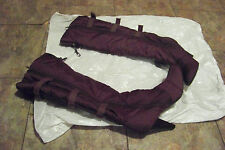 womens wild rose brown puffy fabric below the knee boots size 11