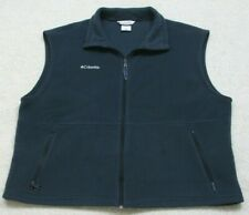 Columbia Fleece Vest Jacket Coat Blue Polyester Sleeveless Mans Zipper Front XXL