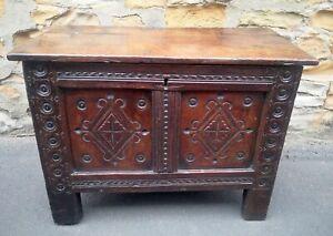 Late 17th Century Oak Chest / Blanket Box
