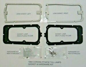 Toyota Corona 1968 RT4#/5# Tail Lamps Gasket & Hardware Kits