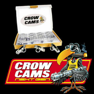 """CROW CAMS STAINLESS ROLLER ROCKERS 7/16"""" STUD 1.65:1 HOLDEN 253-308 CRHL8167"""