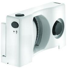 UNOLD 78850 Allesschneider Compact weiss (Edelstahl-Schlitten, klappbar)