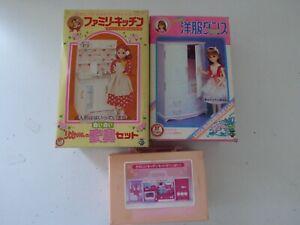 Lot de 3 boites TAKARA Meubles + Dinette Jouet Ancien Japan Vintage