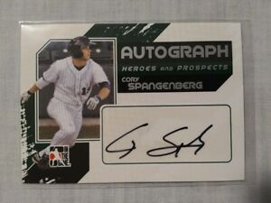 """Cory Spangenberg - 2011 ITG H&P """"Full Body"""" AUTOGRAPH #A-CSP (one of 390)"""