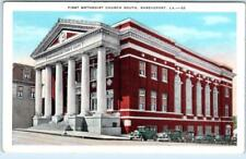 SHREVEPORT, Louisiana  LA    FIRST METHODIST CHURCH South  c1920s    Postcard