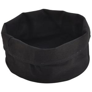 Black Cotton Bread Bags CBB-20BK D 20cm x H 14cm Table Top Presentation