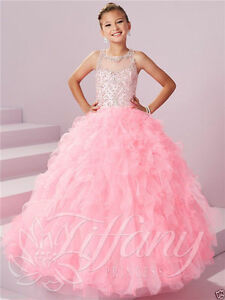 Princess Prom Birthday Party Ball Flower Girls Pageant Gown Formal Wedding Dress