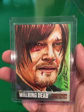 Norman Reedus as Daryl Dixon Walking Dead sketch card by Utterstrom 1/1 AP