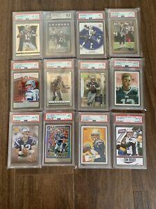 Lot Of 12 Tom Brady Cards Near Mint — Gem Mint, PSA, Beckett