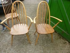 Pair Of Ercol Quaker Carver Dining Chair - Delivery available