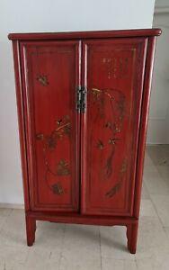 antiker roter *chinesischer* Schrank - Hochzeitsschrank
