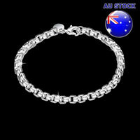 Wholesale  925 Sterling Silver Filled 4mm Polished Solid Charm Bracelet Bangle
