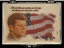 Kennedy Half Dollar - Flag 2X3  Snap Lock Coin Holder, 3 pack