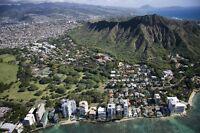 WAIKIKI BEACH HAWAII LANDSCAPE POSTER PRINT 24x36 HI RES 9MIL PAPER
