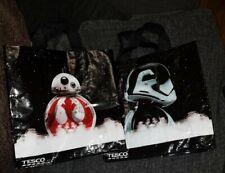 2x Tesco Reusable Shopping Bags Star Wars The Last Jedi