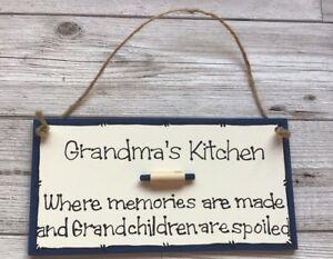 Gran Grandma Nanny Kitchen Personalised Sign Cooking Humorous Funny Wall Hanging