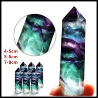 Natural Fluorite Crystal Column Wand Obelisk Point Reiki Healing Stone 4-9cm A++