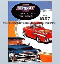 Vintage 57 Chevy Truck Advertising PHOTO Chevrolet 1957 Light Duty Trucks Ad